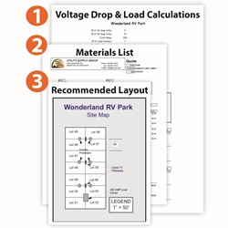 [ANLQ_8698]  Electrical Layouts | Wiring Diagram Rv Park |  | Utility Supply Group