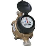 Recordall - Low Lead Direct Read Water Meter - 3/4 Inch - CUBIC FEET - Badger