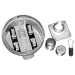B10 1 inch HUB, 1 inch CLOSE NIPPLE, METER RING, CLOSURE PLUG and PADLOCK SEAL.
