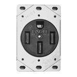 1258 - 50 Amp Receptacle with Bracket