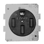 BR54U - Midwest 50 Amp Receptacle with Plate