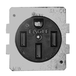 Midwest 50 Amp Receptacle with Plate